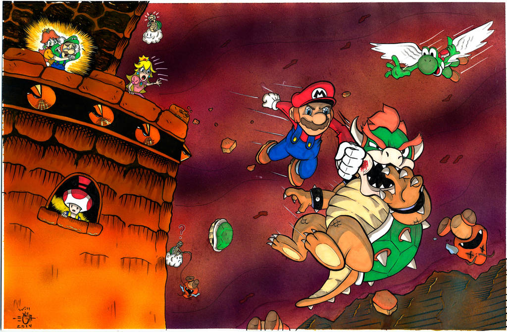 Limpurtikles Mario Colored: Mario VS Bowser FINAL FIGHT