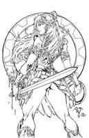 XENA Warrior Princess - PANT - Egli - Inks by SurfTiki