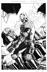 Judge Dredd VS. Megatron - ACE - Egli - Inks by SurfTiki