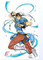 Chun Li - Alvin Lee - Egli - Freeman - Watercolors by SurfTiki