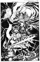 Sif and Thor - Khan - Egli - Inks by SurfTiki