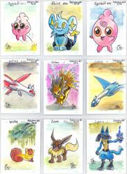 Pokemon sketch card batch 2 - Egli by SurfTiki