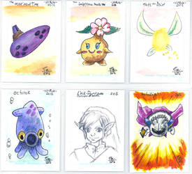 Nintendo sketch card lot by SurfTiki