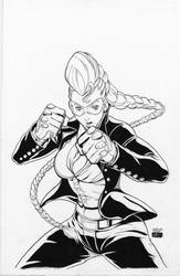 Crimson Viper cover StreetFighter2T#4 - Ng - Egli by SurfTiki