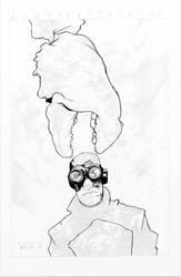 Lobster Johnson WIP - Black - Egli - Inks by SurfTiki