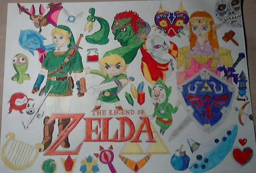 The Legend Of Zelda Drawing By Chaoslink1 On Deviantart