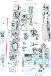 Doodles part 2 by oddrikku12