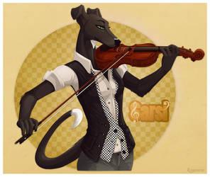 Sarsi Violin Badge by Plaguedog