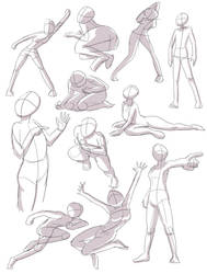 Human pose practice 1 by joulester
