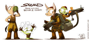 Squad - machine gun crew by joulester