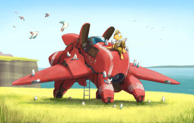 The Little Red Plane by joulester