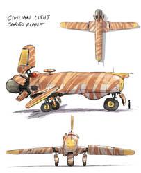 Civilian Light Cargo Plane by joulester