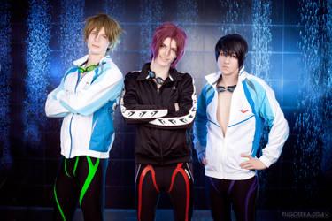 Free! - Makoto,Rin,Haruka - Eternal Summer by AmethystPrince