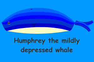 Humphrey the depressed whale by PotHeadJesus