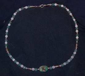 Aquamarine necklace by Adzuma