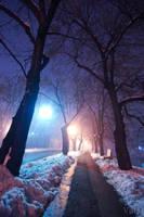 Snow alley by villewilson
