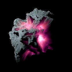 Asteroid Meteor Fuchsia | Transparent Space Stock by LapisDemon