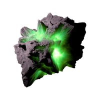 Asteroid Meteor Green | Transparent Space Stock by LapisDemon