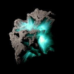 Asteroid Meteor Aqua | Transparent Space Stock by LapisDemon