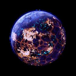 Blue luminous Planet Moon Lava + acid Space Stock by LapisDemon
