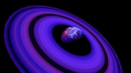 Purple Blue Planet Purple rings Space SciFi Stock by LapisDemon