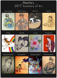 2017 Summary of Art by Pikku-Piru