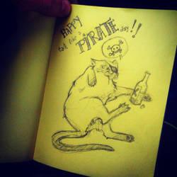 Coloured notebook #2 : Talk Like a Pirate Day by Pikku-Piru