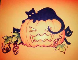 Coloured notebook #3 : Halloween by Pikku-Piru