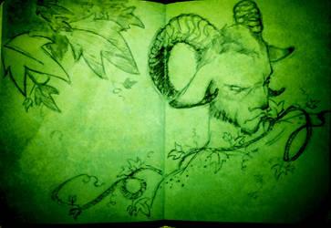 Coloured notebook #5 : Faun by Pikku-Piru