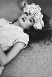 Flowers on the floor. by velvetteskin