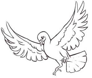 pigeon WIP by Rococokara