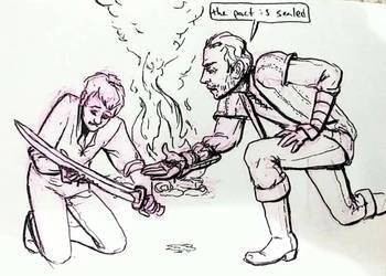 Sword Minor Injury by Rococokara