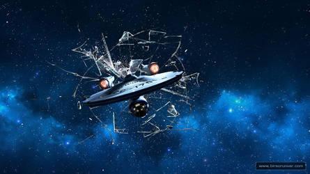 Startrek Spaceship Enterprise Wallpaper 1366x768 by mr-doe