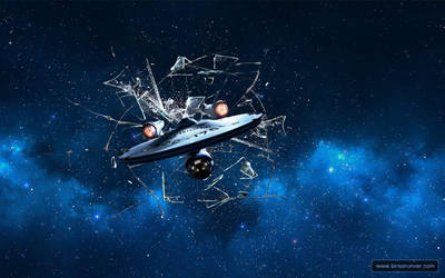 Startrek Spaceship Enterprise Wallpaper 1280x800 by mr-doe