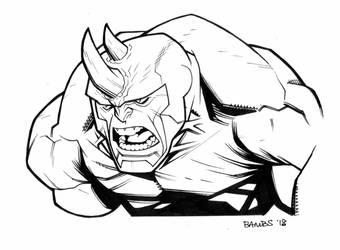 Rhino BW by Bambs79