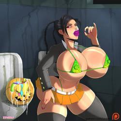 Commission - Halloween Lulu by zedeki-arts