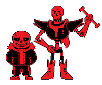 The Fell Bros. (Sans And Papyrus) Updated by Xlyphon
