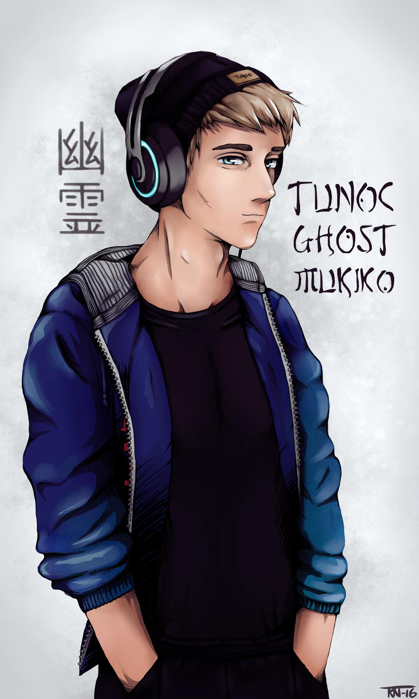 Tunoc Ghost Mukiko (colored version) by trinemusen1