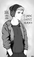 Tunoc Ghost Mukiko (Black and white version) by trinemusen1