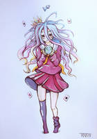 Shiro - No Game No Life fanart by trinemusen1