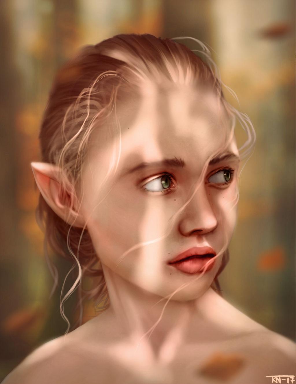 Fall elf by trinemusen1