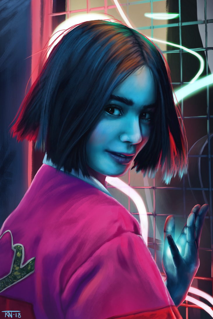 Neon Witch by trinemusen1