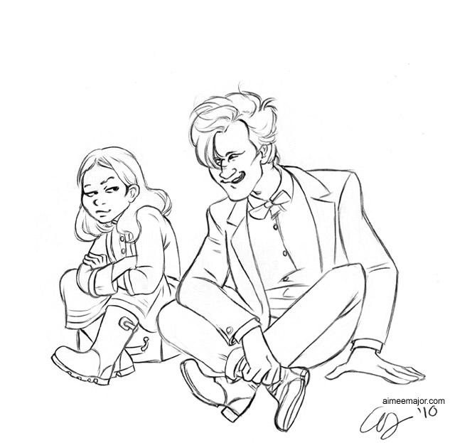 Amelia and the Doctor by aimeekitty