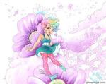 Blossom Bunny Spiral by aimeekitty
