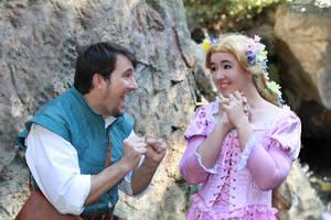 I do like ducklings. Rapunzel Flynn Cosplay by aimeekitty