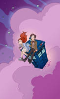 Doctor Who Tea and Jammie Dodgers by aimeekitty