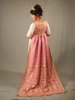 Regency Pink Saree Open Robe by aimeekitty