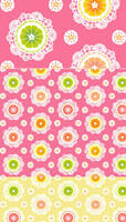 Citrus Lace Fabric by aimeekitty