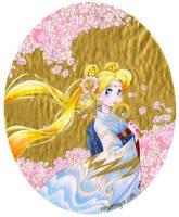 Usagi in Sakura - Sailor Moon by aimeekitty