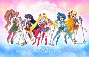 Idol Sailor Moon Inner Senshi by aimeekitty